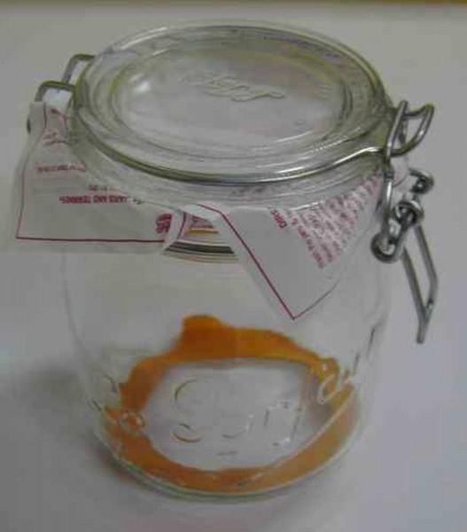 Draht Bügelglas, plastikfrei mit Gummiring
