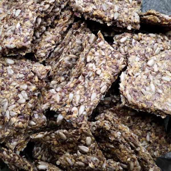 Rohkost- Cräcker, glutenfrei, Bio, Leinsaat 100g